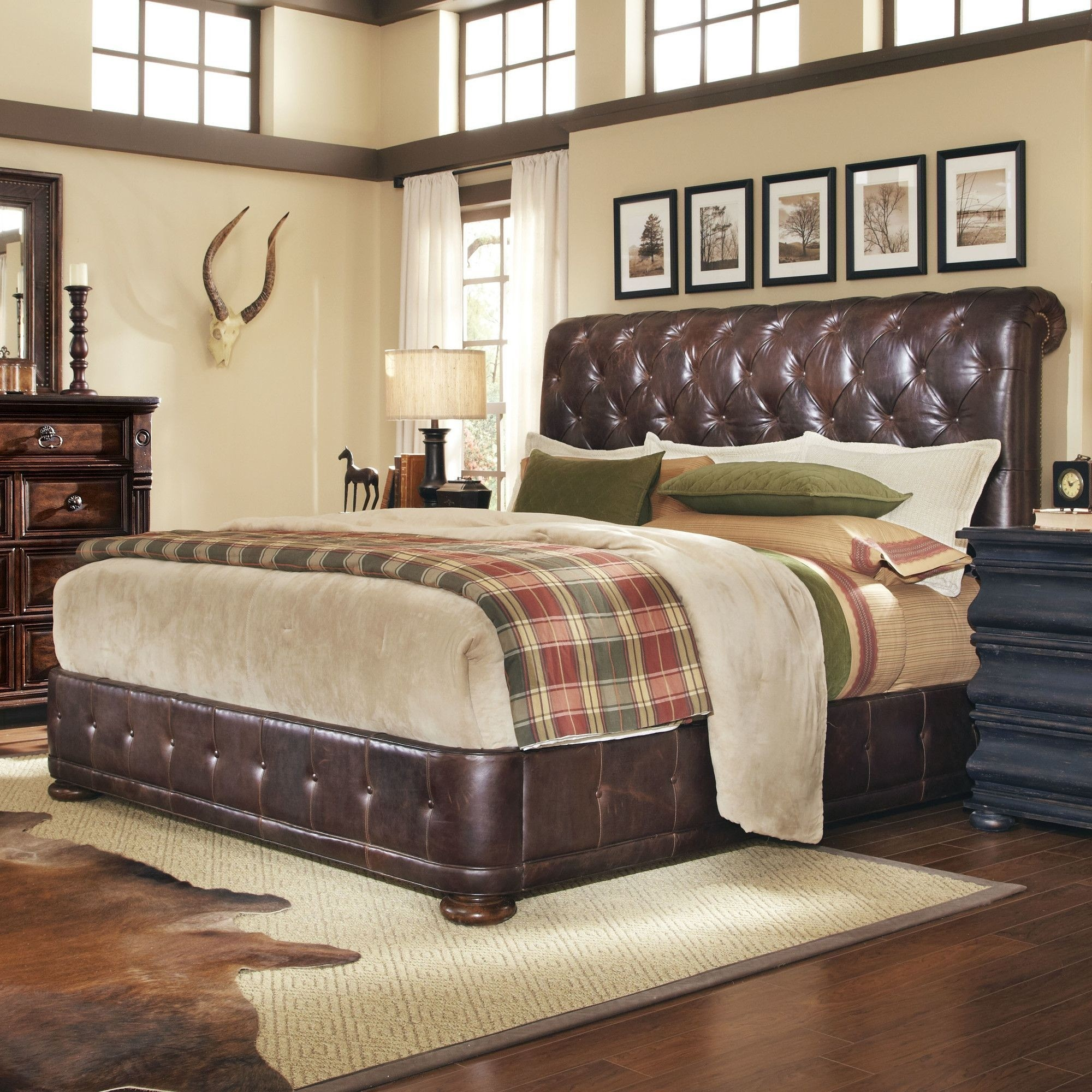 Whiskey Upholstered Footboard