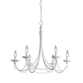 Antique white wrought iron chandelier foter wrought iron 6 light chandelier aloadofball Images