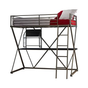 Z Twin Loft Bed with Desk