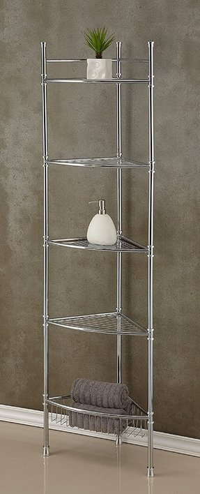 "13"" x 63"" 5 Tier Corner Shelf"