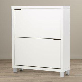 Shoe Cabinet Pine Wood White Floorboards Cabinet Multi Purpose Cupboard Cabinet