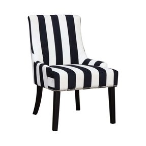 Black Stripe Side Chair