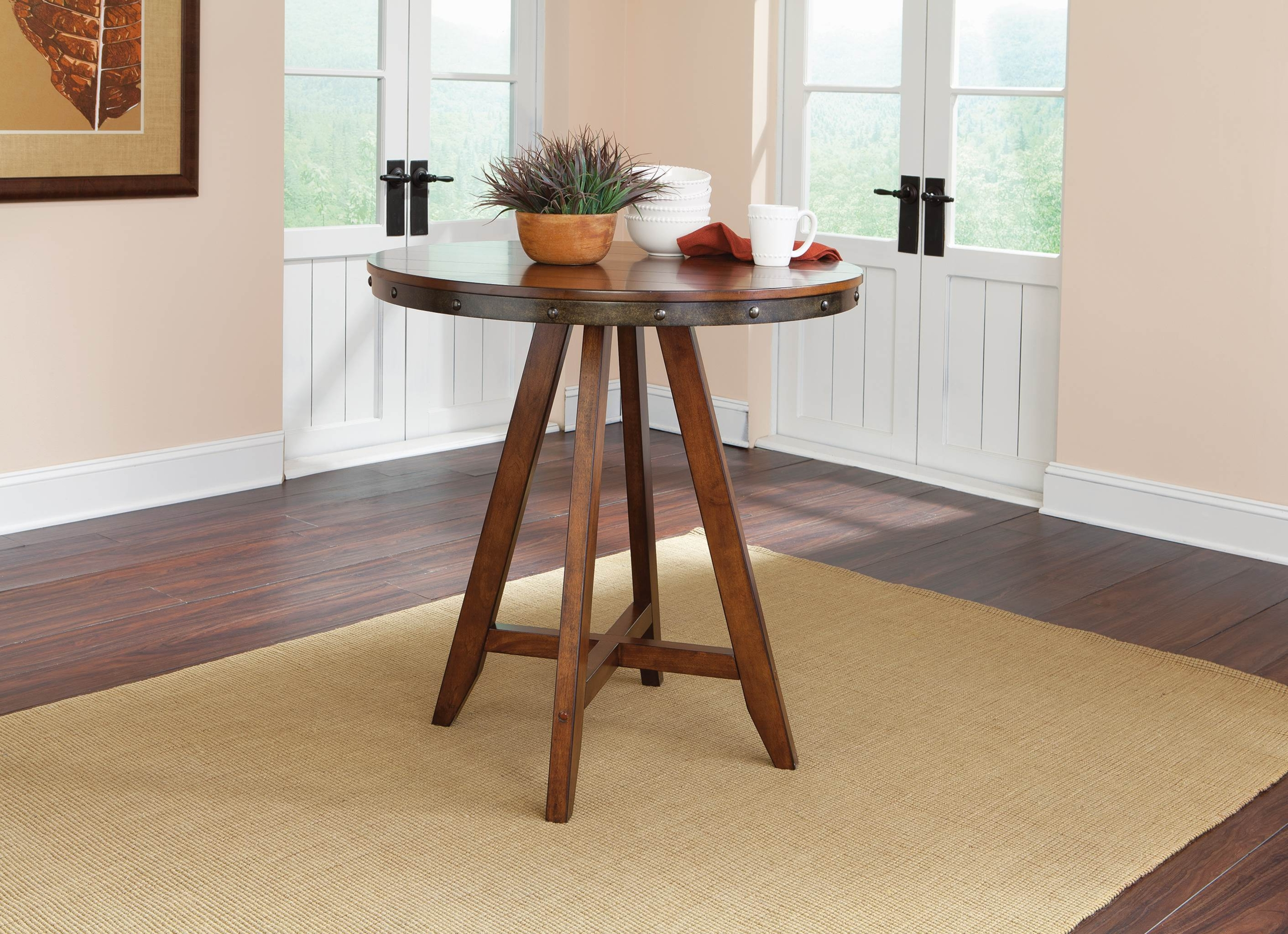 Carson Forge Round Counter Height Dining Table