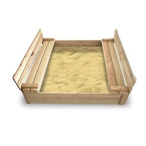 Cedar 4' Rectangular Sandbox with Cover