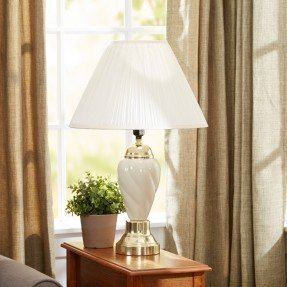 "Ceramic Table 27"" H Lamp with Empire Shade"