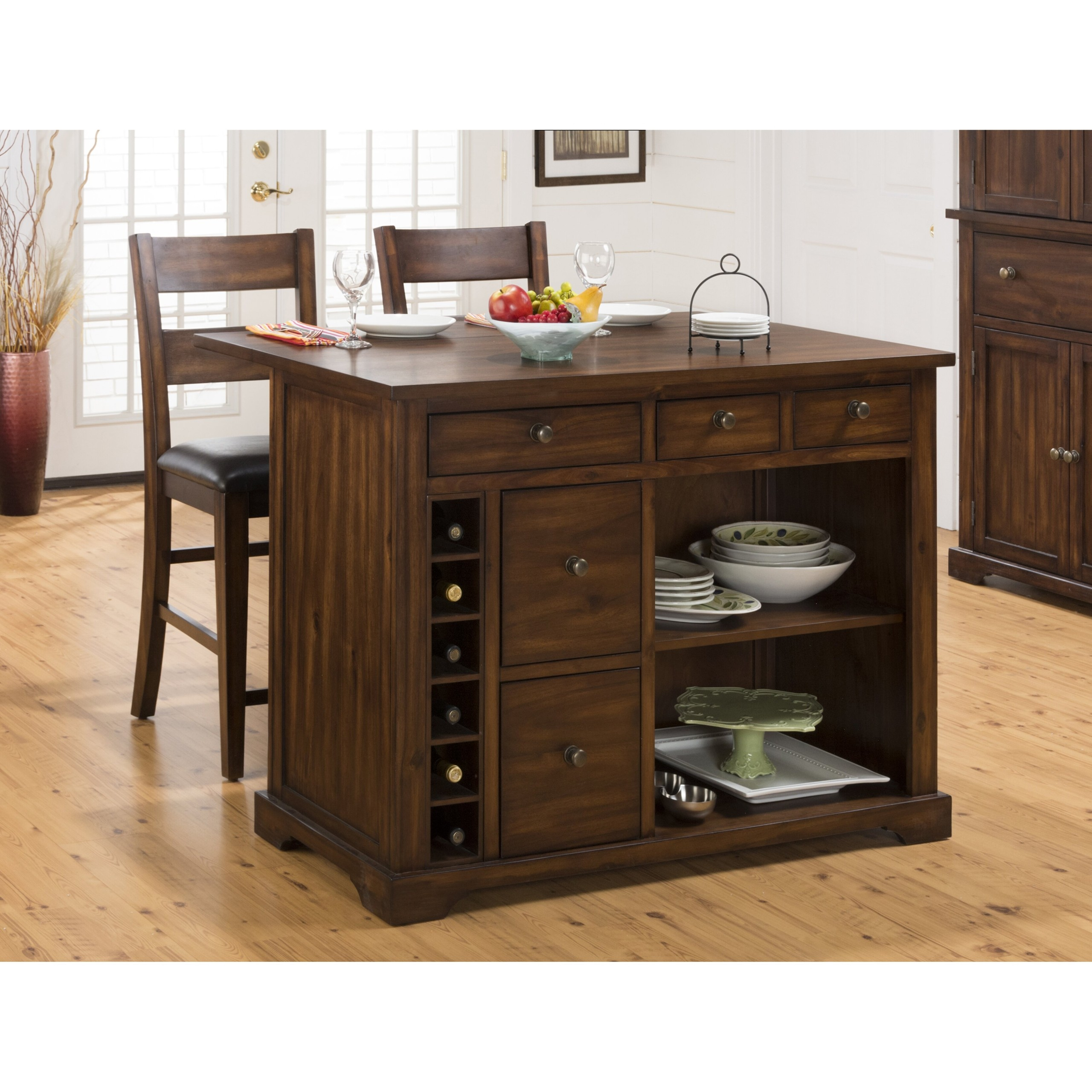 Cooke County 3 Piece Kitchen Island Set