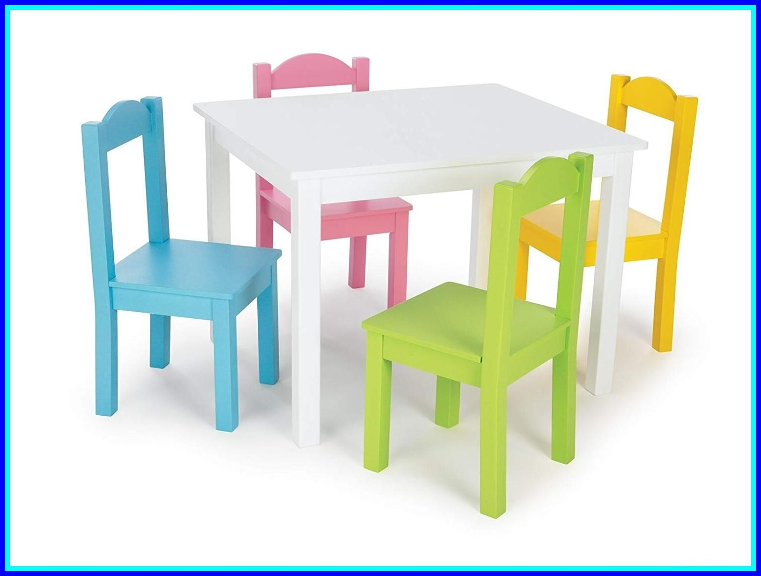 Kids 5 Piece Wood Table \u0026 Chair Set  sc 1 st  Foter : kids table chair set - pezcame.com