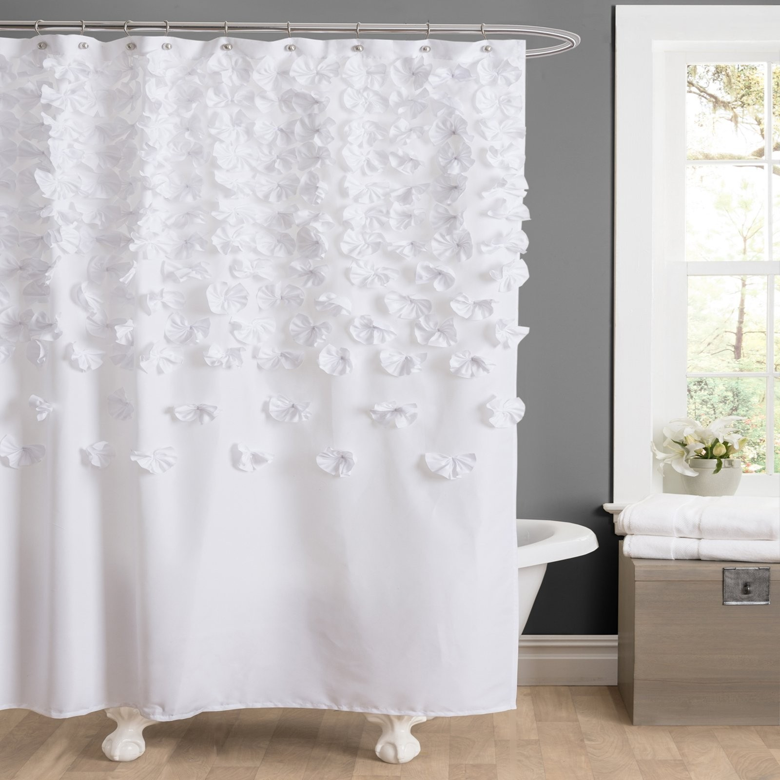 Lucia Polyester Shower Curtain