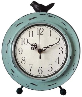 Metal Case Table Clock