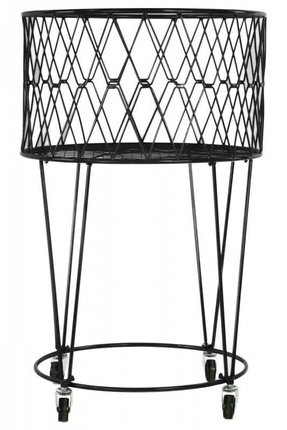 Metal Laundry Basket with Casters