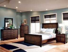 Modern Brown Bedroom Furniture And Color Setting