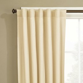 Natural Fabric Duck Single Curtain Panel