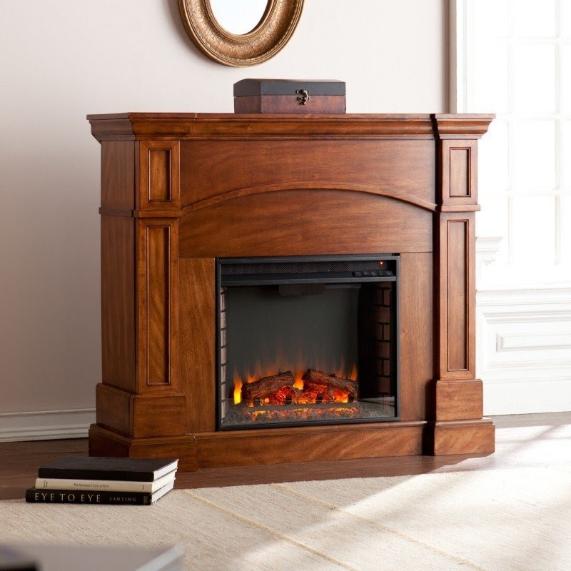 Petty Corner Convertible Electric Fireplace