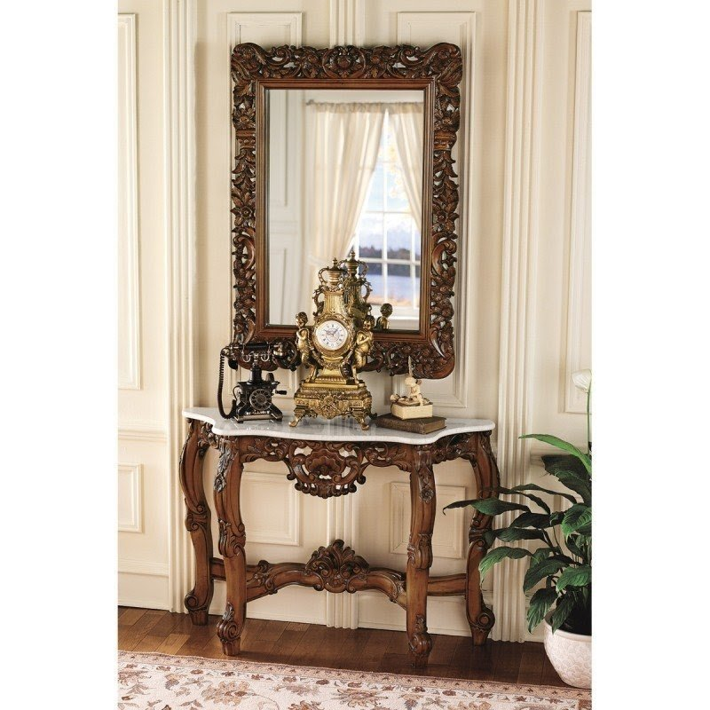 Lovely Royal Baroque Console Table And Mirror Set