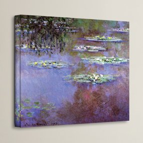 ''Sea Roses II'' by Claude Monet Painting Print on Canvas