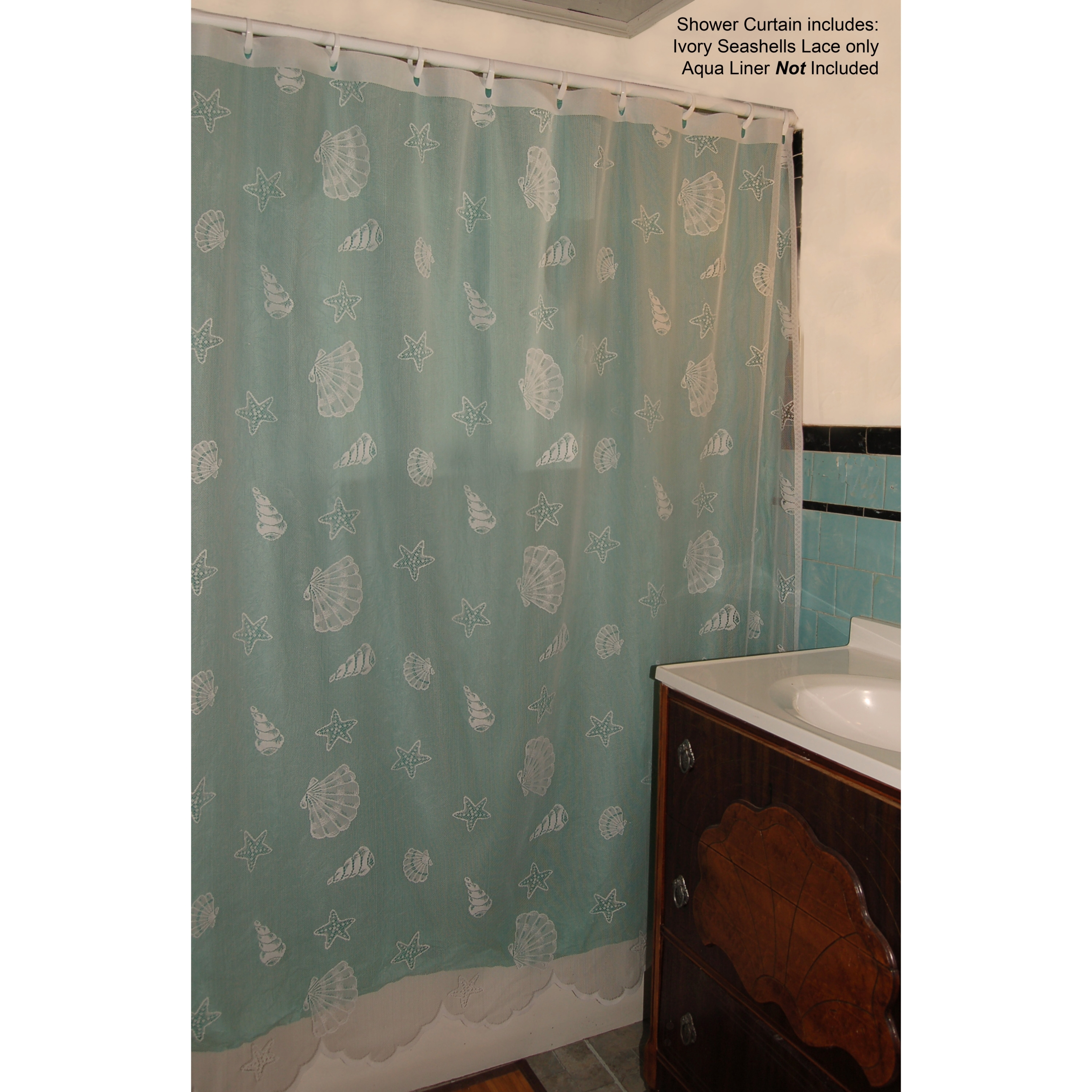 Seashell Lace Shower Curtain