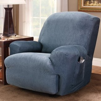 Stretch Stripe Recliner Slipcover