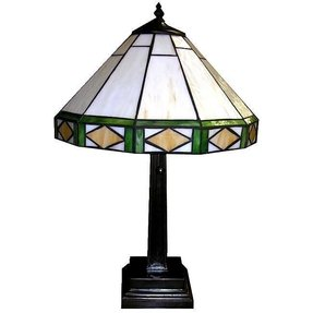 "Tiffany-Style Simple 22"" H Table Lamp with Empire Shade"