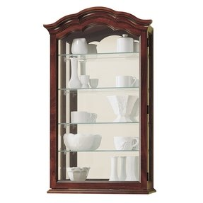 with small curio best doors console glass furniture from cabinet amish dutchcrafters storage