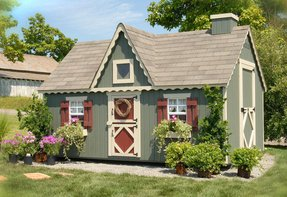 Victorian Playhouse Kit with No Floor