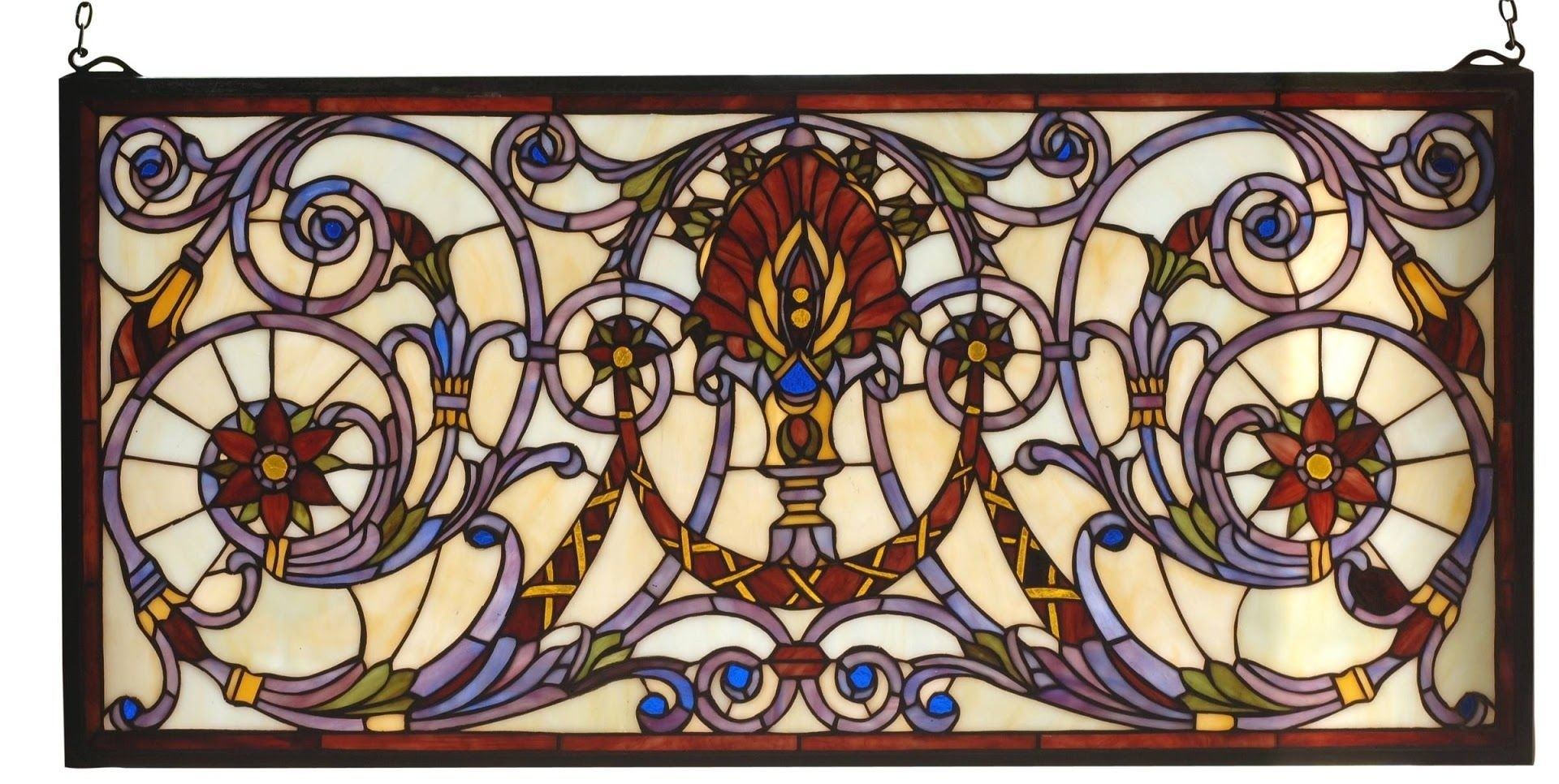 Victorian Spiral Stained Glass Window