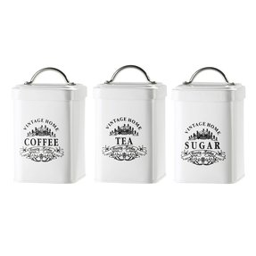 White Canisters With Wooden Lids Foter
