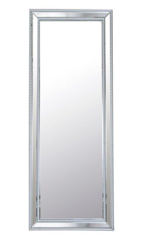 Vivian Rectangle Studded Leaning Floor Mirror