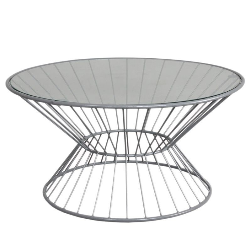 Merveilleux Wire Coffee Table With Glass Top