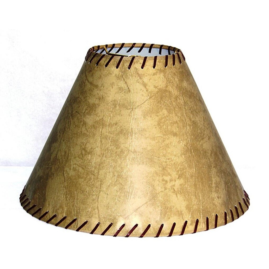 """Natural Lite Source CH116-16 12/"""" Height Faux Leather Bell Shade Faux Leather"""