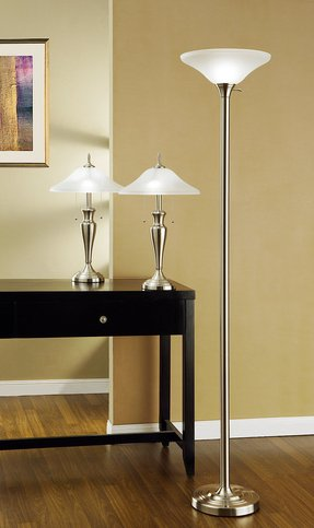 Glass Uplight Table Torchiere Lamp Ideas On Foter