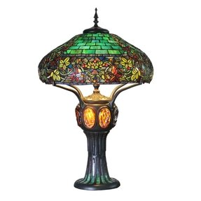 "34"" H Stained Glass Hampstead Table Lamp"