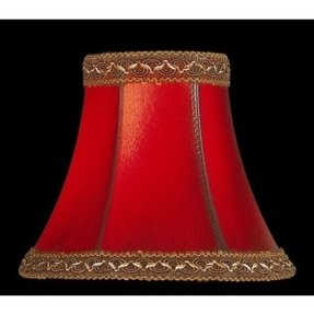 "6"" Faux Leather Bell Lamp Shade"