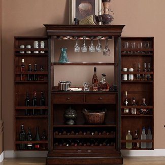 Angelina Bar Cabinet With Wine Storage