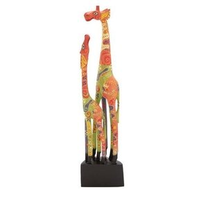 Attractive Wood Giraffe Statue