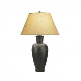 Beaux Arts Hammered Table Lamp in Antique Bronze