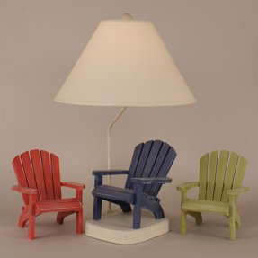 "Coastal Living Adirondack Chair 27.5"" H Table Lamp with Empire Shade"