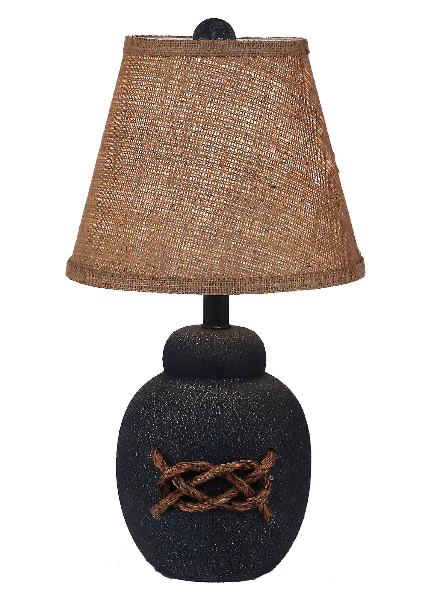 "Coastal Living Bean Pot 18"" H Table Lamp with Empire Shade"