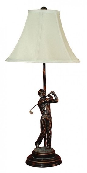 "Down The Fair Way 27"" H Table Lamp with Empire Shade"