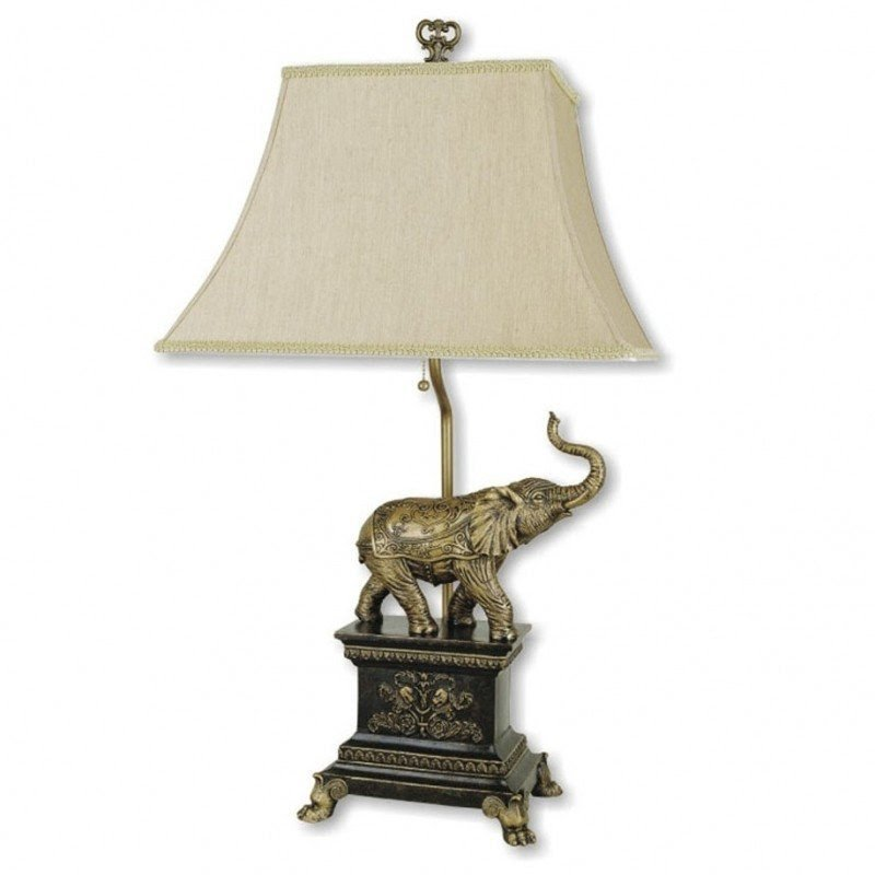 "Elephant 29"" H Table Lamp with Empire Shade"