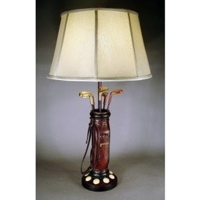 Golfer lamp foter golfer bag 325 h table lamp with empire shade aloadofball Gallery