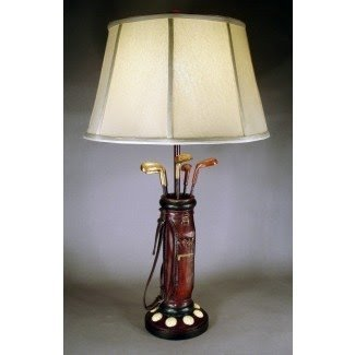 "Golfer Bag 32.5"" H Table Lamp with Empire Shade"