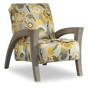 Grasshopper Exposed Fabric Arm Chair