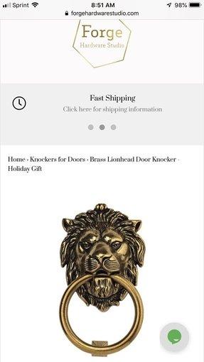 Brass Lion Head Door Knocker Ideas On Foter