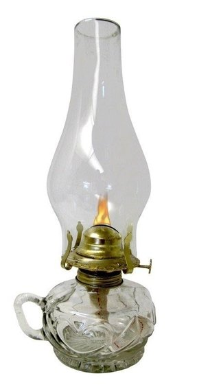 "Lite Hearted 12"" Oil Lamp"