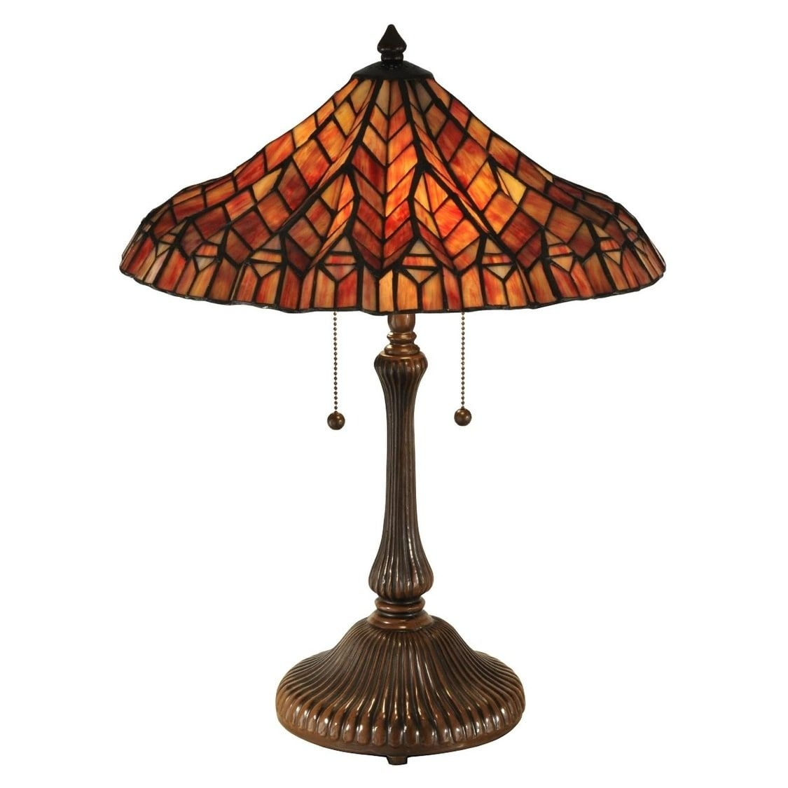 "Lotus 24"" H Table Lamp with Bell Shade"