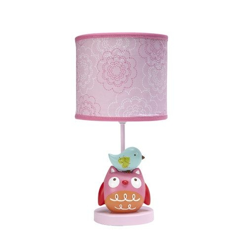 "Love Bird 17"" H Table Lamp with Drum Shade"