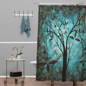 Madart Inc Romantic Evening Extra Long Shower Curtain
