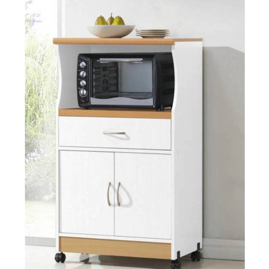 This Handy Cabinet For Microwave Oven Is The Perfect Solution For Your  Kitchen. Practical Wheels Make It Is Also Mobile. Handy Cabinet And Drawer  Provide ...
