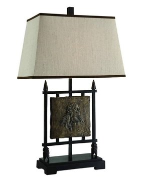 "Native American 29"" H Table Lamp with Empire Shade"