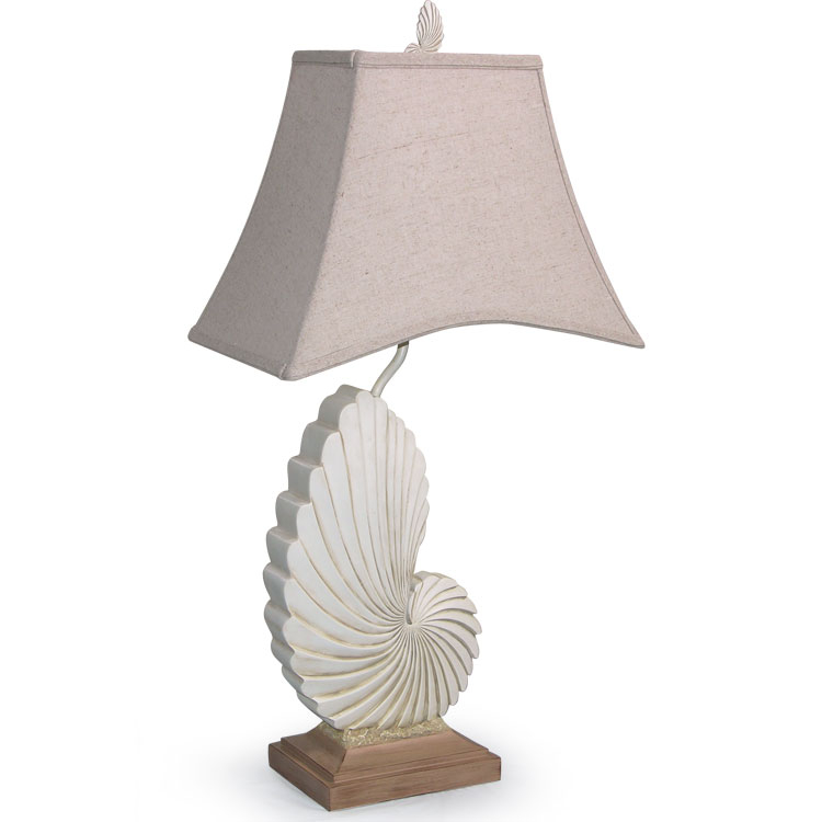 "Nautilus 32"" H Table Lamp with Bell Shade"